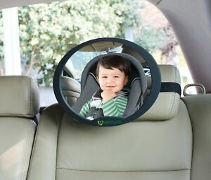 LARGE ADJUSTABLE OVAL VIEW REAR/BABY/CHIL<wbr/>D SEAT CAR SAFETY MIRROR HEADREST MOUNT