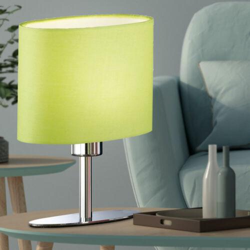Schreib Tisch Lampe Wohn Zimmer Lese Beistell Nacht-Licht Textil Leuchte grün