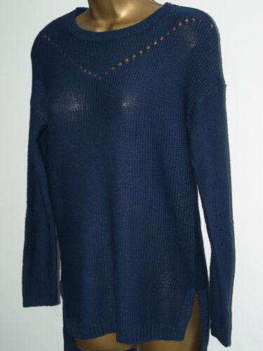 New Ladies Ex store Fine Knit Jumper Jade Navy Neon Orange Long Sleeve Sweater