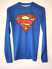 Mens Under Armour Compression Heatgear Fitted Superman Alter Ego Shirt, Small