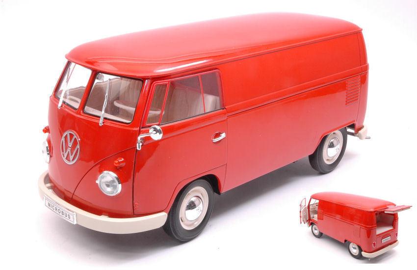 Volkswagen VW T1 Bus 1963 Panel Van rosso 1 18 Model 18053R WELLY
