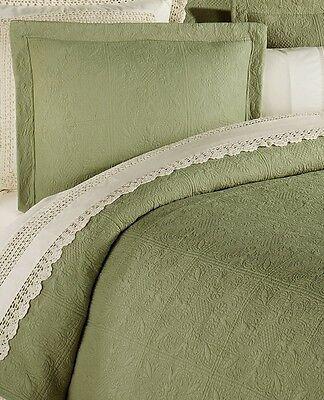 TERRA COTTA Twin Full Queen RUSTIC ORANGE MATELASSE BED KIng QUILT or SHAM