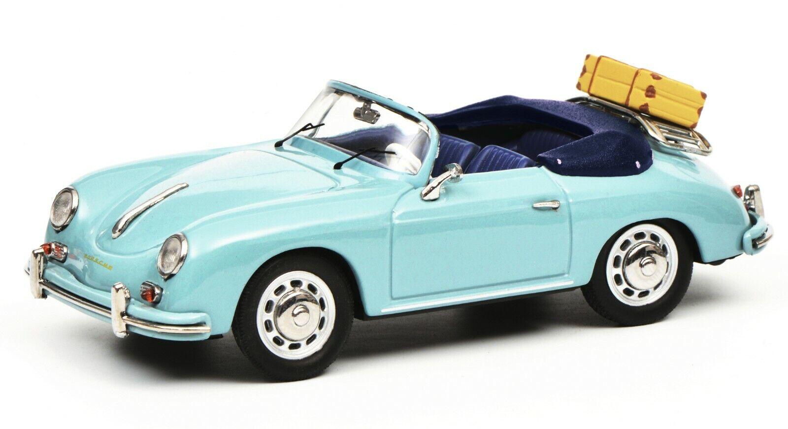 Schuco 1 43 Porsche 356 A Cabriolet travel Blau 450258400