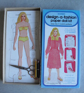 Vintage-1979-Mattel-Barbie-Design-a-Fashion-Paper-Doll-Kit-with-Box