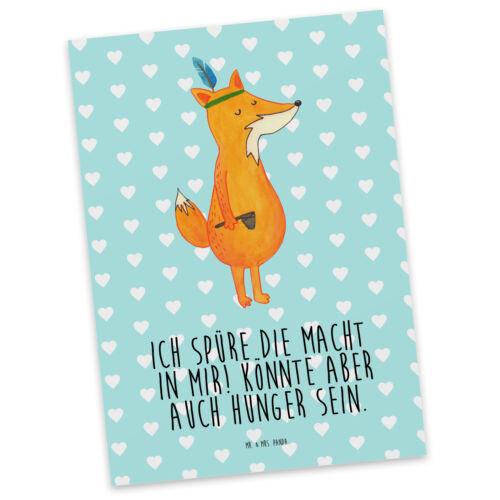 Postkarte Fuchs Indianer Einladungskarte Geschenkk... Postkarte Postkarten