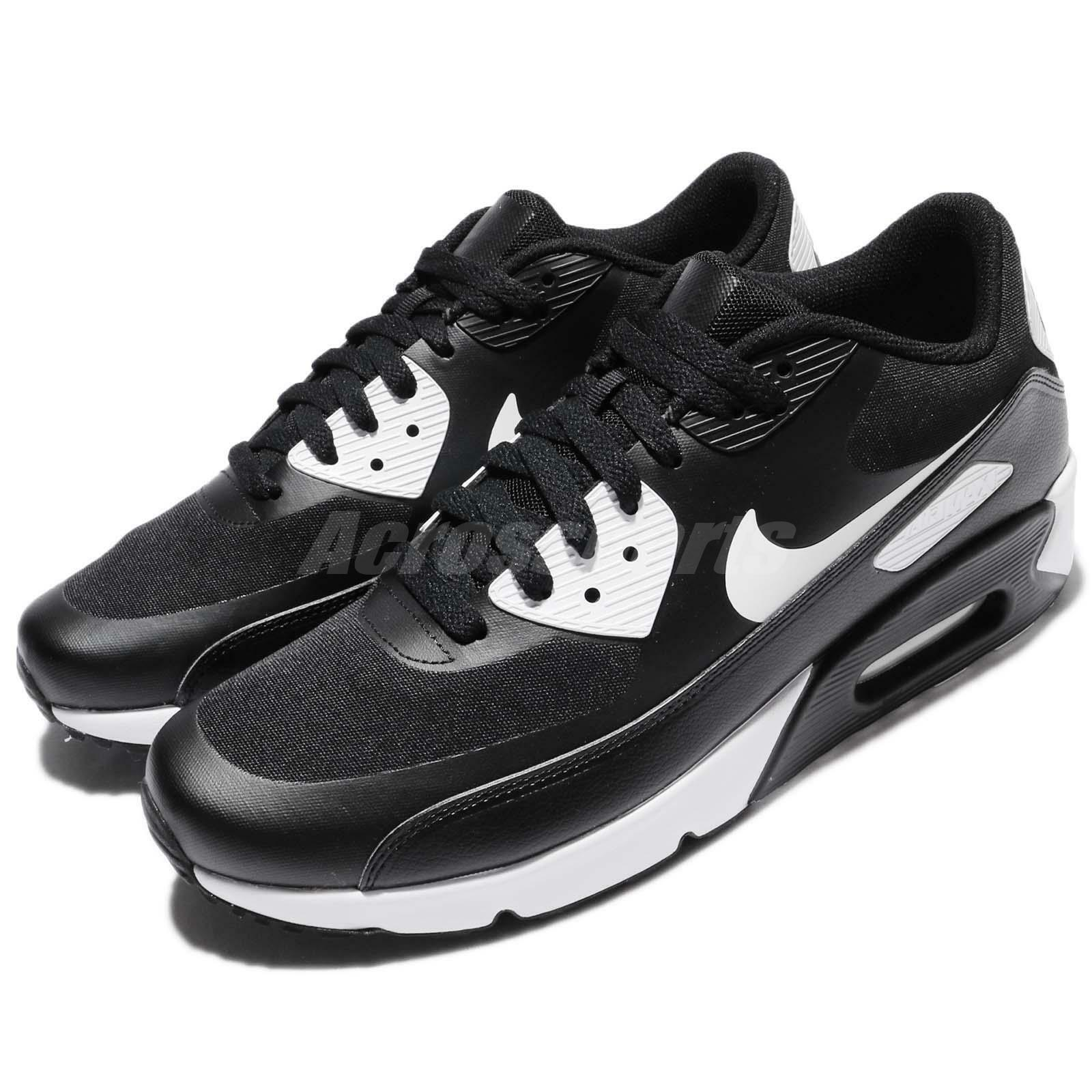 Nike Air Max 90 Ultra 2.0 Essential Black White Men Running Shoes 875695 008