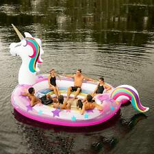 NEW GIANT HUGE INFLATABLE PINK UNICORN PARTY FLOATING ISLAND LAKE RIVER RAFT
