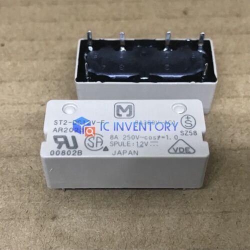 Relé de propósito general 1PCS ST2-DC12V-F 8A 250VAC 6 Pines