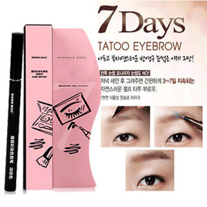 hot brown waterproof 7days eye brow eyebrow tattoo pen