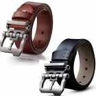 Vintage Men's Belt Genuine Leather Casual Business Dress Buckle Strap Belts Gift