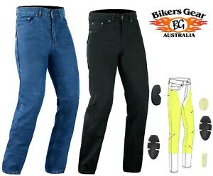 Australian-Bikers-Gear-Men-039-s-Motorcycle-Jeans-Trouser-Lined-with-KEVLAR-Fibre-B