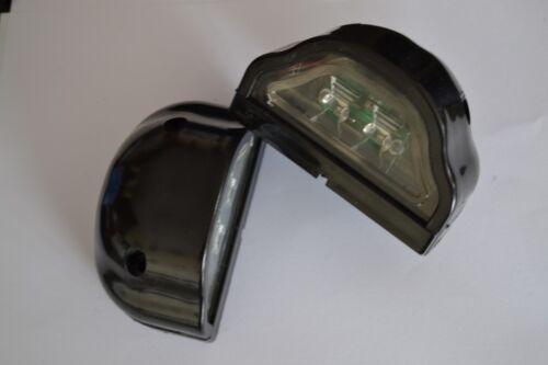 2x 12V LED NERO MARCATORE Posteriore Targa Luci di coda Camion Camper Camper Van