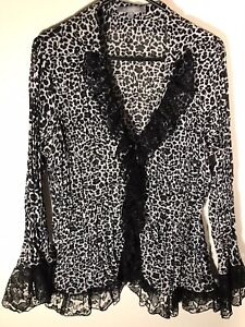 NY-Collection-Animal-Print-Black-Lace-Trim-Crinkled-Long-Sleeve-Button-Front-Top