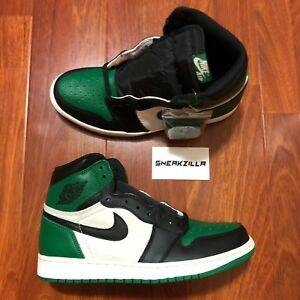 eb6702f555ea Nike Air Jordan Retro I 1 High OG Pine Green Sail 555088-302 Sz 8-14 ...