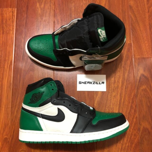 9fbed9796c0f13 Air Jordan Retro 1 High OG Pine Green Leather Shoe 555088-302 Men ...