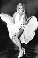 Marilyn Monroe The Legend Poster Famous Shot With Wind Blowing #312