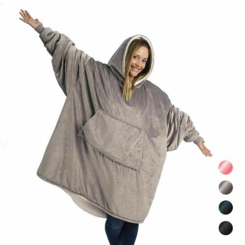 New Blanket Sweatshirt Huggle Hoodie Ultra Plush Blanket Hoodie Soft/&Warm UK^