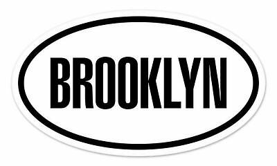 "BROOKLYN New York Oval car window bumper sticker decal 5"" x 3"""
