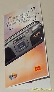 Dépliant publicitaire Appareil Photo KODAK Advantix 3600ix Advanced Photo System