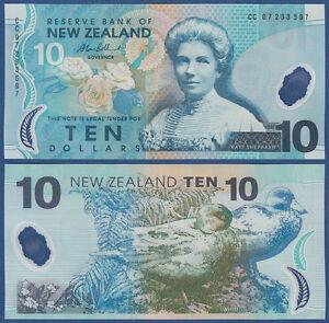 Aggressiv Neuseeland / New Zealand 10 Dollars (20)07 Unc P.186 B Verschiedene Stile