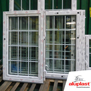 kunststoff fenster sprossen 18mm 12 glas felder dreh kipp 2fach glas ebay. Black Bedroom Furniture Sets. Home Design Ideas