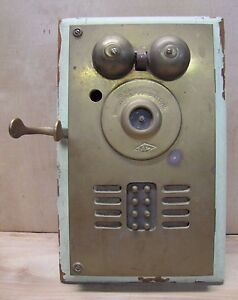 Image Is Loading Old Brass Deveau Eight Apartment On Call Box