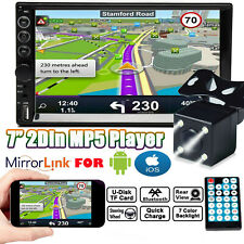 """Double 2 Din Car Stereo 7""""+ Backup Camera Touch Screen Radio Mirror Link For GPS"""