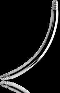 Titan Stab gebogen 1.2 mm Stärke Einzelteil Ersatzteil gebogener Piercingstab