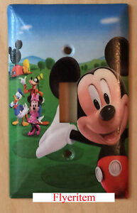 Details About Mickey Mouse House Club Light Switch Duplex Outlet Wall Cover Plate Home Decor