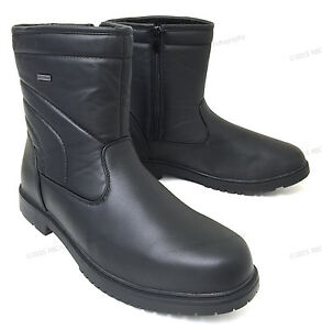 Mens-Winter-Boots-Leather-Ankle-Warm-Fur-Lined-Zipper-Comfort-Shoes-Size-6-5-13