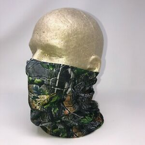 Hunting Camo Tree Green Leaf Camouflage Tubular Multi Function Head Wear Beanie