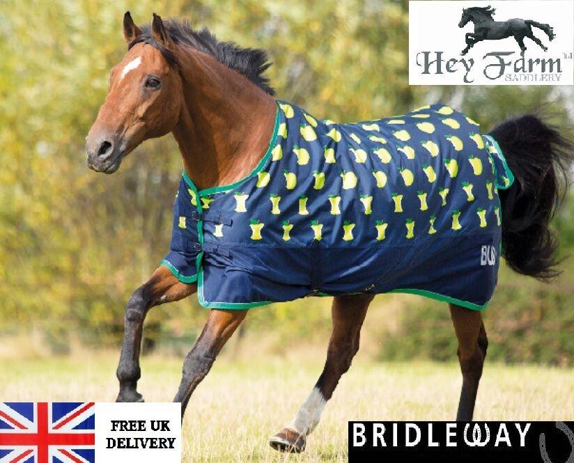 Bridleway Ontario Lightweight Apple Print Waterproof Horse Turnout Rug
