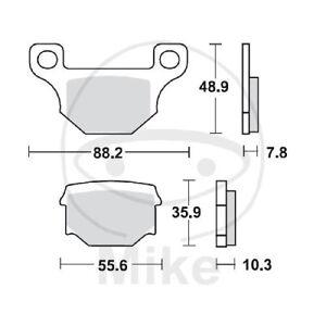 TRW-Lucas-Pastiglie-Freno-MCB765-Posteriore-Keeway-Speed-125