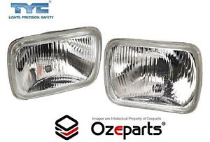 Pair of Head Light Lamp With Park Light Hole For Ford Econovan 78~88