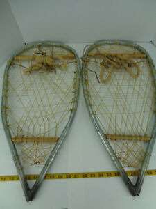 Image is loading Homemade-Handmade-Metal-Snowshoes-Snow-Shoes-25-034-