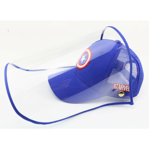 Kids Cartoon Anti-saliva Full Face Shield Baseball Cap Boys Girls Summer Sun Hat