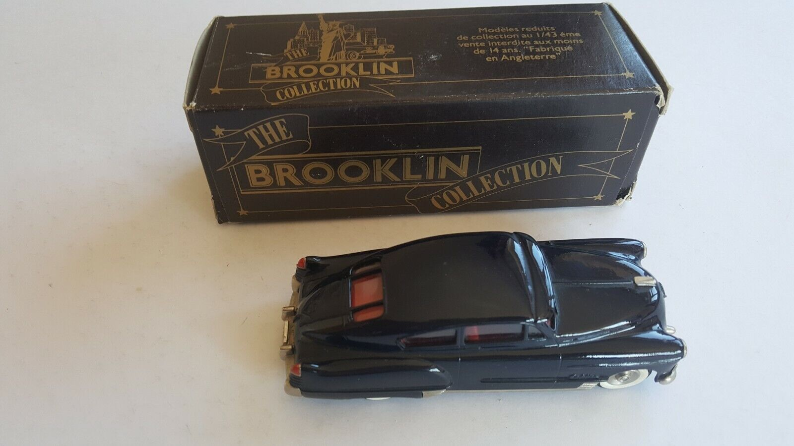 BROOKLIN BRK.40 1948 CADILLAC dinamico veloce indietro COUPE DK. Blu 1 43 in scatola 1996