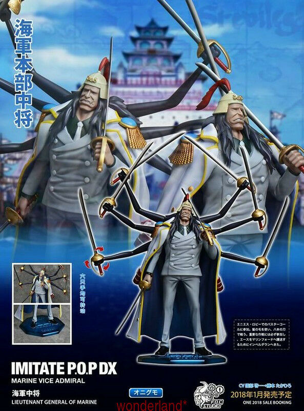 F.O.C Studio Onigumo Marine Lieutenant General POP Resin Resin Resin Figure Model  One Piece a98b24