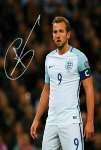 "Harry Kane England FOOTBALL Signed Autograph PRINT 6x4/"" GIFT"