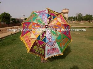 Indian-Multi-Color-Elephant-Sequence-Work-Garden-Umbrella-Large-Patio-Parasols