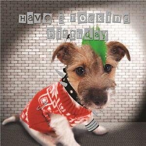 Jack Russell Puppy Dog Birthday Greeting Card Punk Rocker Hell S