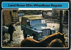"""Land Rover 88"""" Series III 1971-74 UK Market Sales Brochure Petrol & Diesel"""