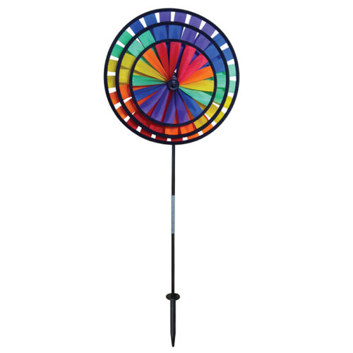 Rainbow Triple Spinner Wheels with Garden Flag 2837