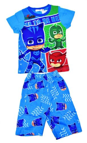 NEW SZ 27 KIDS SUMMER PYJAMAS COTTON BOYS PJ MASK SLEEPWEAR PJS NIGHTIES TSHIRT