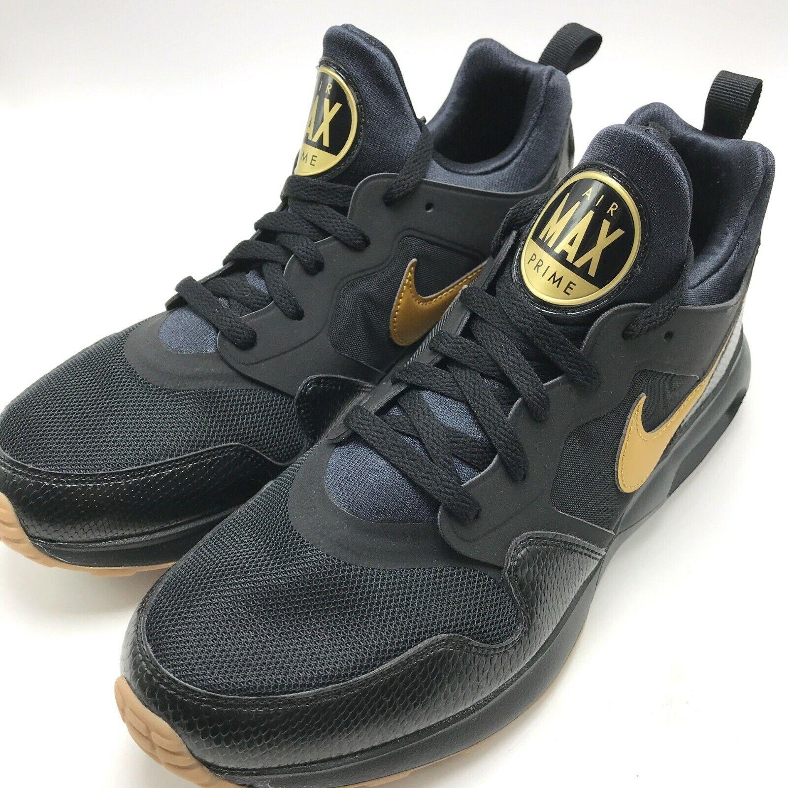 Nike Air Max Prime Men's Running shoes Black Metallic gold 876068-008