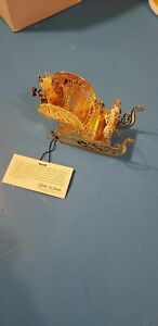 Franklin Mint Limited Edition Gold Sleigh Christmas Tree ...