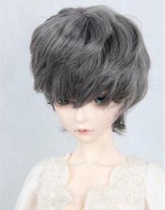 "BJD Doll Nice Hair Wig 7-8/"" 1//4 Long Gray MSD SD BJD Doll Super Dollfie Wig"