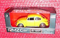 Rmz City Collection 38 Volkswagen Beetle Matte Series Yellow
