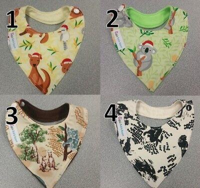 Handmade Baby Bib ~ New Born ~ CHRISTMAS ~ AUSTRALIAN ~ KOALA ~ KANGAROO