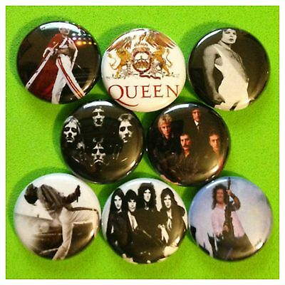 QUEEN 1in buttons pinback FREDDIE MERCURY BRIAN MAY